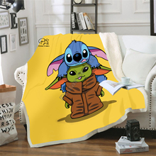 Star Wars Baby Yoda Blanket Design Flannel Fleece Blanket Printed Children Warm Bed Throw Blanket Kids Blanket style-4