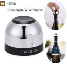 Nieuwste Youpin Cirkel Vreugde Mousserende Wijn Mini Champagne Stopper Mini Wijn Stopper Rotary Lock Designvacuum Efficiënte Behoud