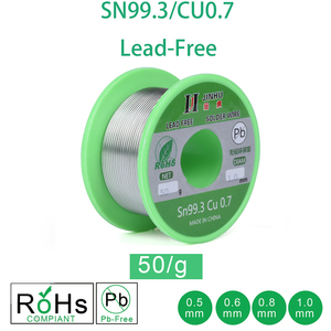 Image 1 - 50g Lead free Solder Wire 0.5 1.0mm Unleaded Lead Free Rosin Core for Electrical Solder RoHs