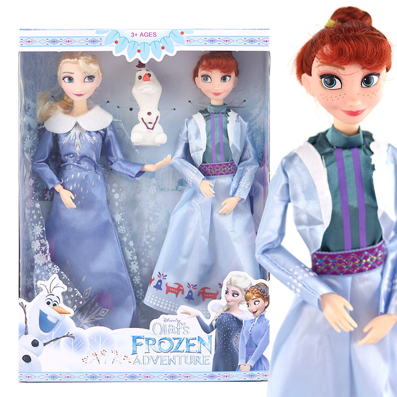 Disney Frozen 2 Toys Princess Elsa Toy Anna Dolls & Accessories Olfa Good Quality Gifts ! Plastic Baby Dolls For Girls