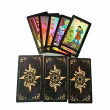 Promotion 78pcs Holographic Tarot Cards Board Game Shine Cards Full English Edition for Astrologer with English Instructions