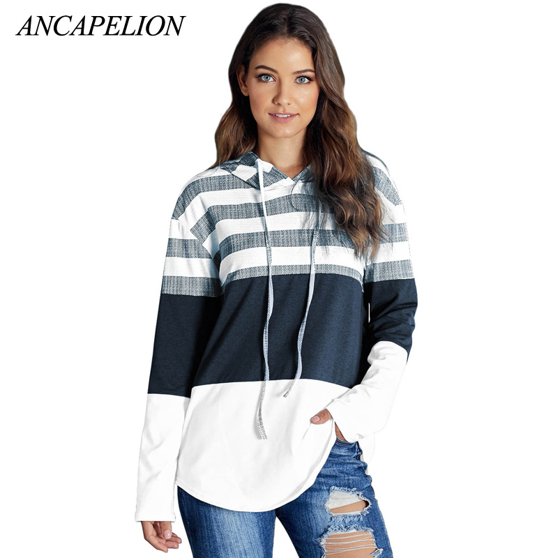 Ancapelion Hooded Autumn Winter Woman Sweater 2019 White Plus Size Sweater Women Knitted Tops Streetwear
