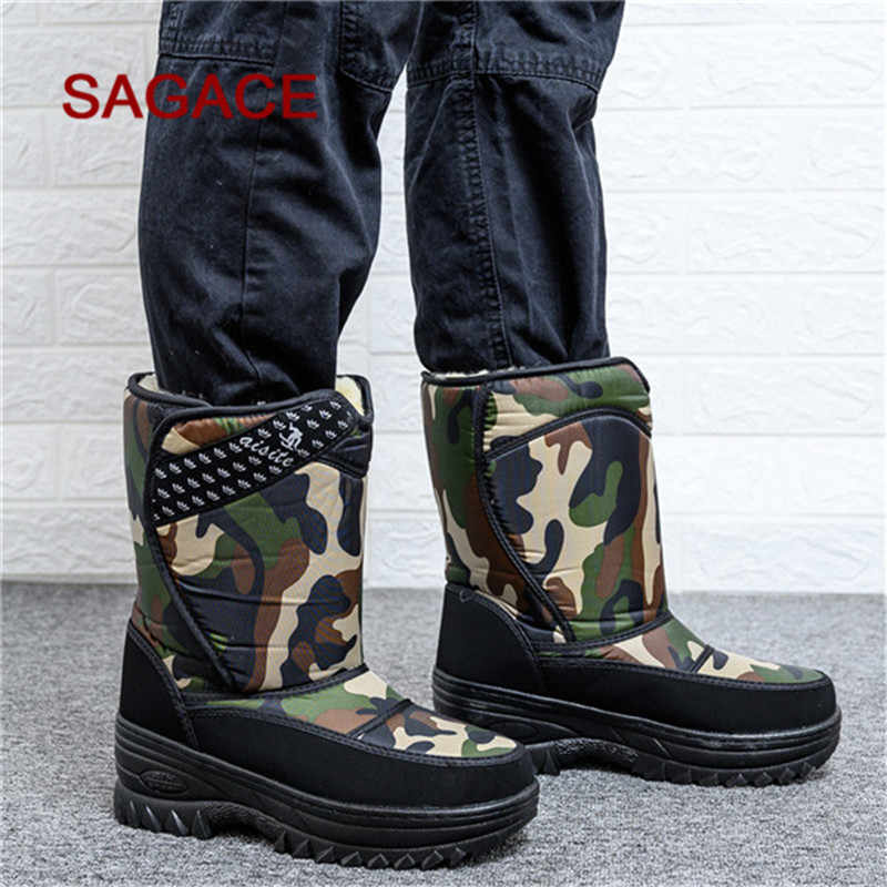Men Winter Boots Keep Warm Snow Shoes Suede Waterproof Protective Fishing Shoes Snow Boots Antifreeze shoes Botas de hombre