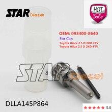 인젝션 노즐 팁 DLLA145P864 093400 8640 Toyota Hiace Hilux 2.5 D 2KD FTV 용 디젤 수리 부품