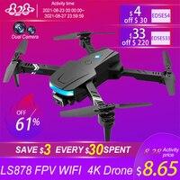 2021 nuovo LS878 Drone 4K HD doppia fotocamera Fpv Wifi altitudine Hold Mode pieghevole Quadcopter elicottero professionale RC Mini droni giocattolo