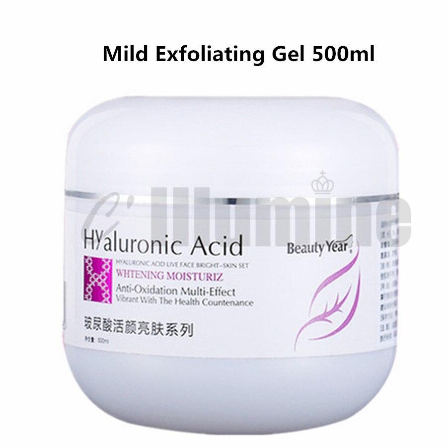 Acide hyaluronique Anti-oxydation visage gomme Gel exfoliant doucement nettoyer soigneusement la saleté dans les pores peau saine tendre 500ml