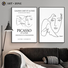 ART ZONE Picasso Originaux Et Lithographies Decorative Paintings Bedroom Wall Decoration Poster Home Decoration Painting(China)