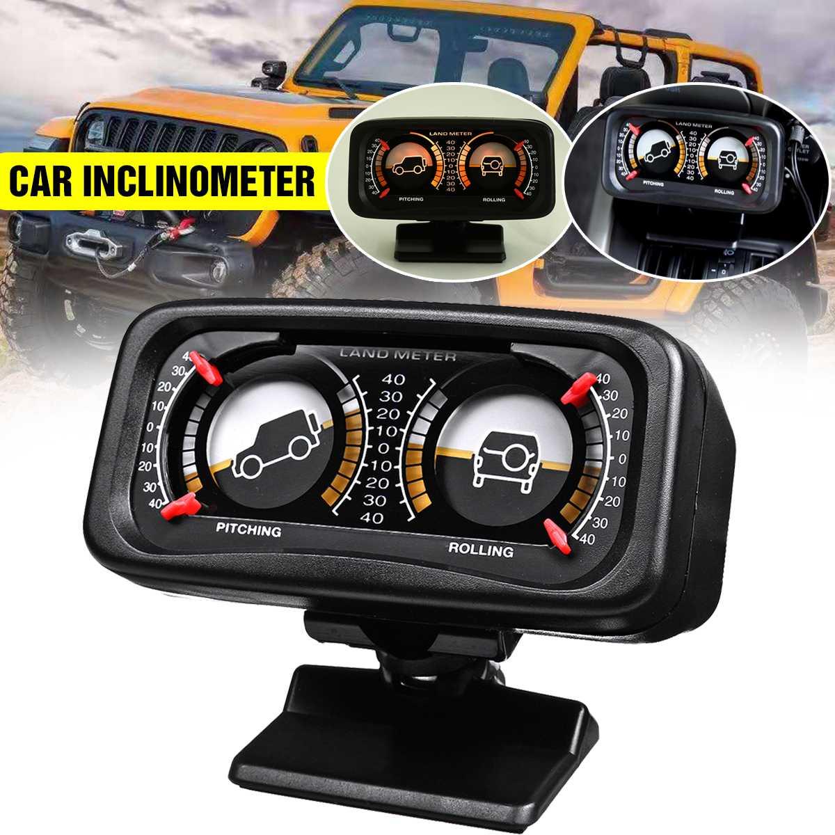 12V SUV Car Inclinometer Gradient Slope Angle Level Meter Compass Tilt Indicator
