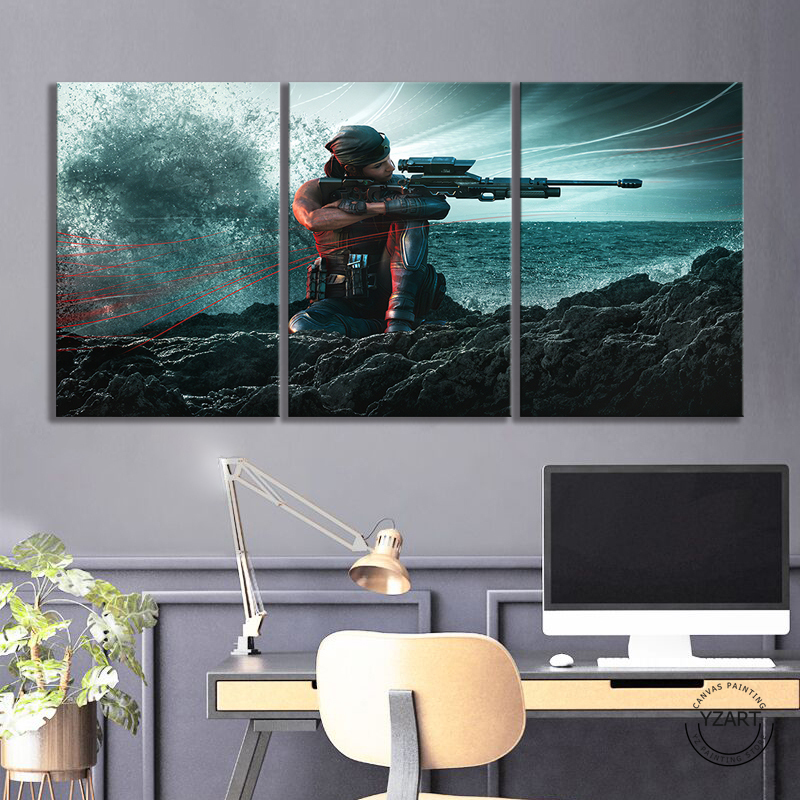 Rainbow Six Siege Operation Shifting Tides Female Sniper Game Character Poster HD Wall Picture Canvas Paintings for Home Decor 4