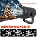 2019 New LED Outdoor Waterproof LED Christmas Snowflake Projector Lamp Spotlight Birthday Halloween Wedding Projector Lights|Stage Lighting Effect| |  -