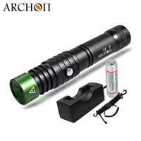 ARCHON J1 Diving Laser Flashlight Powerful Led Green Laser 100M Diver Laser Sight Fishing Hunting Tactical Torch 18650 Optional