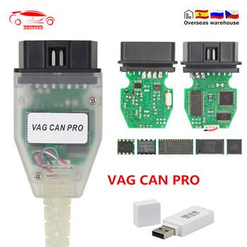 VAG CAN PRO V5 5 1 z FTDI FT245RL Chip VCP OBD2 interfejs diagnostyczny kabel USB wsparcie magistrala Can UDS K linia działa dla AUDI VW tanie i dobre opinie JFIND VAG CAN PRO Diagnostic cable 20cm 2-5w Plastic and Material Kable diagnostyczne samochodu i złącza Auto Diagnostic Cable