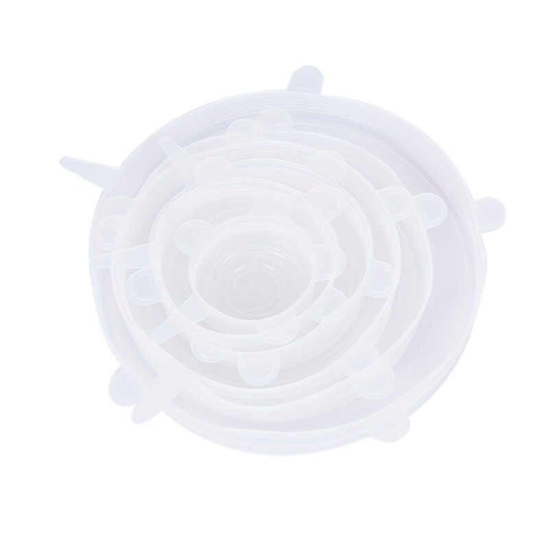 1 sztuk żywności świeżego utrzymywania pokrywka silikonowa trwałe wielokrotnego użytku żywność zapisz pokrywa odporne na ciepło pasuje do wszystkich rozmiarów i kształtów pojemnik