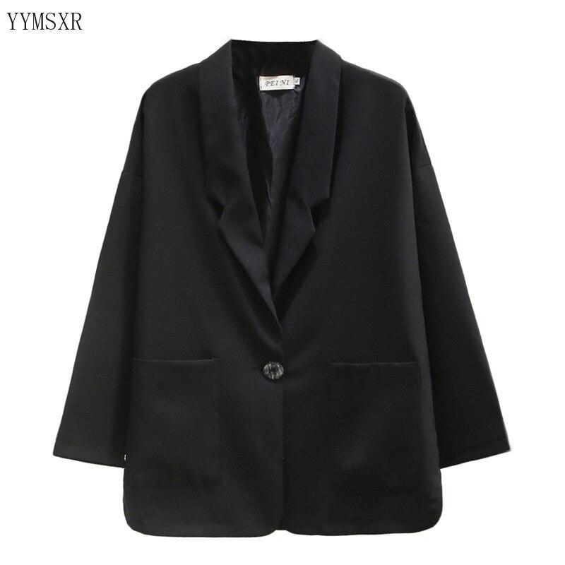 Plus size women's suit feminine blazer 2020 new casual loose large pocket ladies jacket coat Fashion jacket small suit
