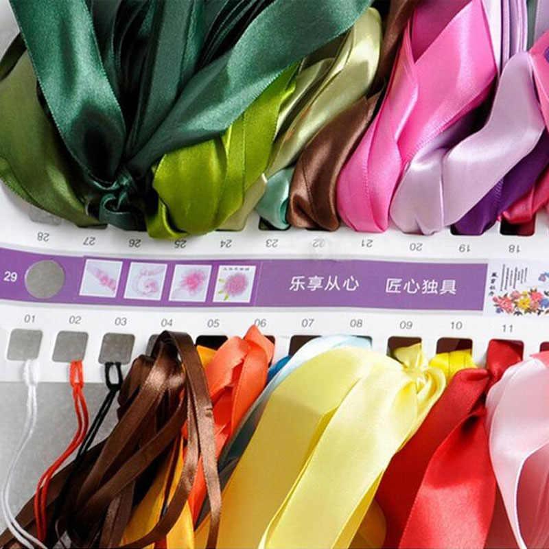 3D DIY Thêu Ruy Băng Chéo Nữ Thời Trang MỤC VỤ Màu Hoa Cho Người Mới Bắt Đầu Bộ Kim Chỉ Bộ Dụng Cụ Nghệ Thuật Thủ Công MaY Trang Trí Nhà