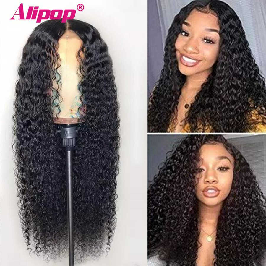 13x6 Lace Front Human Hair Wigs For Women Pre Plucked Malaysian Curly Lace Front Wig Pre Plucked With Baby Hair Remy Alipop Wig
