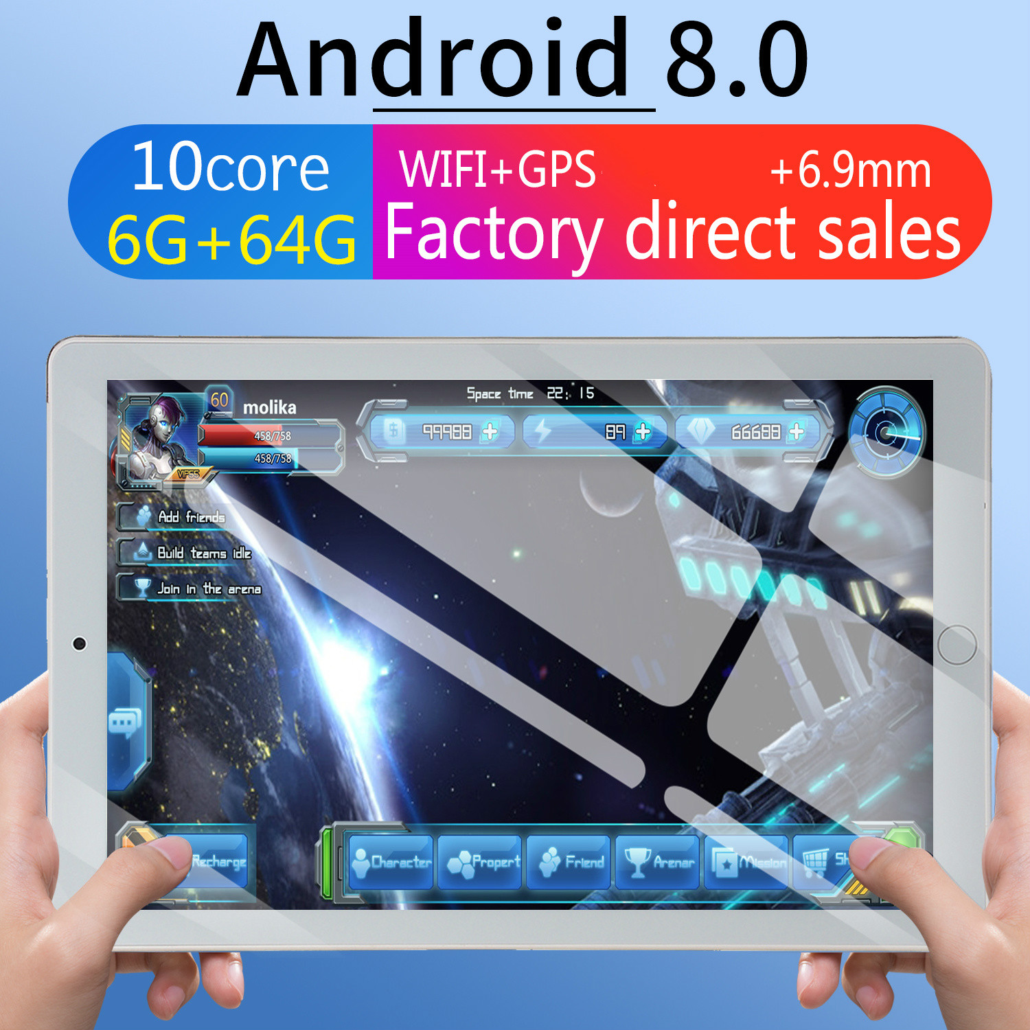 2020 10 Tablet Screen Mutlti Touch Android 8.0 Octa Core Ram 6GB ROM 64GB Camera 5MP Wifi 10 Inch Tablet 4G LTE Pro Pc