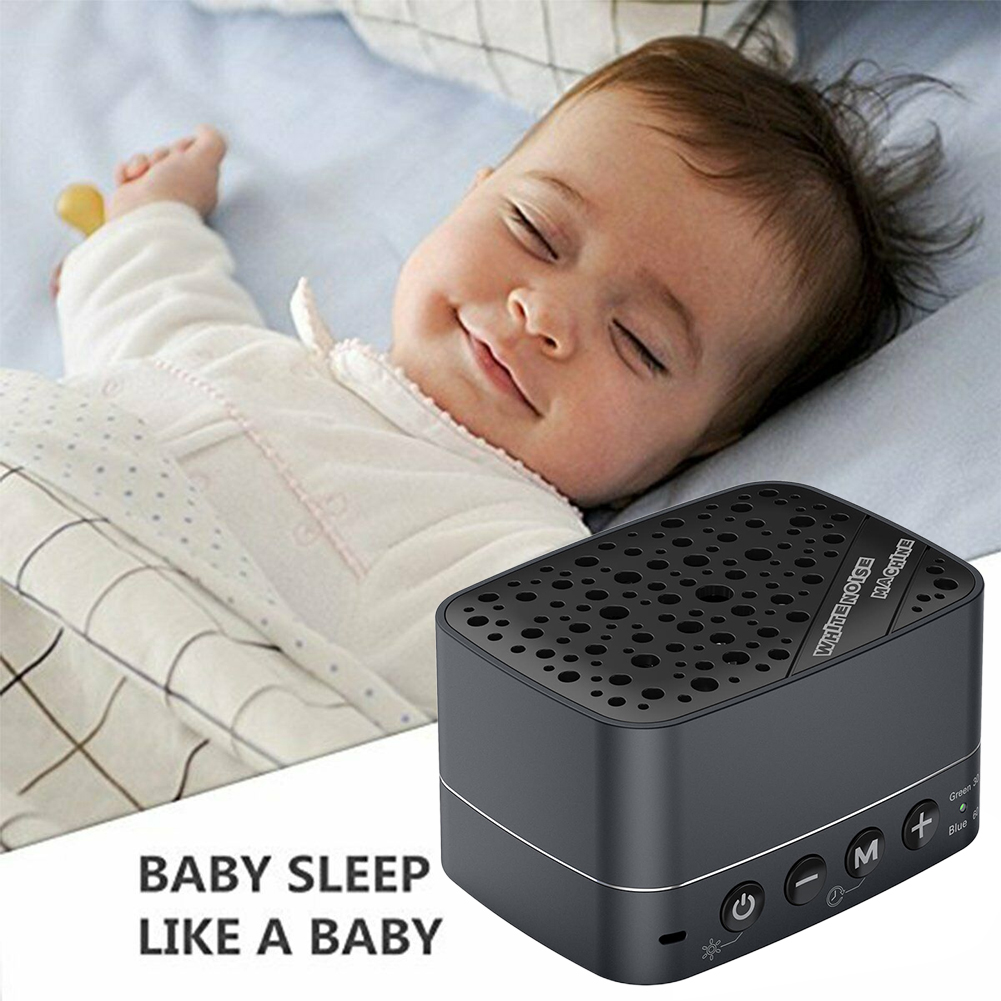 Home USB Charging Rechargeable Relaxing Portable Insomnia Improvement Sleep Machine Electronic Travel White Noise Timer Baby