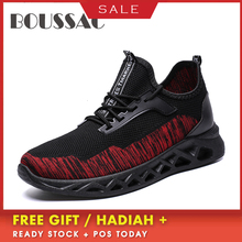 BOUSSAC Breathable Stretch Running Shoes Flywire Sneakers Casual Outdoor Walking Masculino Zapatilla Mujer Deportiva