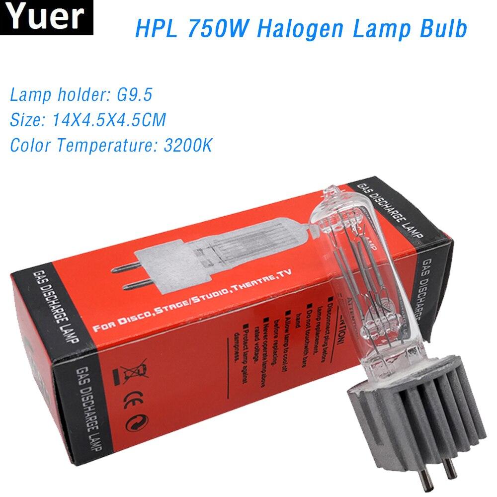 Free Shipping HPL 750W G9.5 230V Stage Lamp Bulb Halogen Lamp Bulb Professional Moving Head Bulb Equipment DJ Disco Par Light