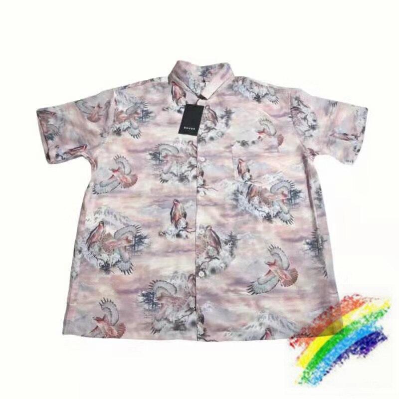 2020 Digital Printing RHUDE Shirt Men Women 1:1 Top Version Streetwear Top Tees RHUDE Shirts
