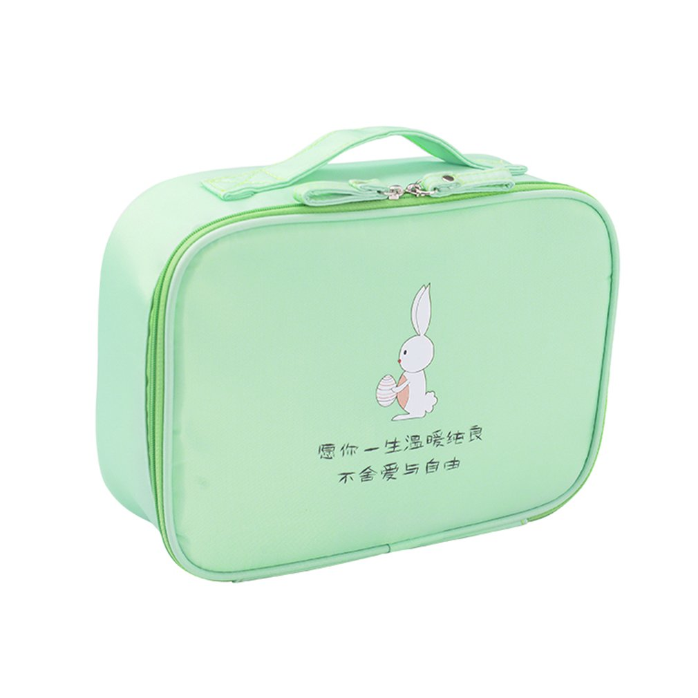 OUTAD Compact Size Cartoon Printed Women Waterproof Makeup Bag Cosmetics Pouchs For Travel Ladies Pouch Cosmetic Bag