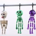 Хэллоуин ужас, светящийся в темноте Скелетон, Spoof игрушка, пластик, страшный флуоресцентный маленький брелок для ключей в виде скелета, Pull ...