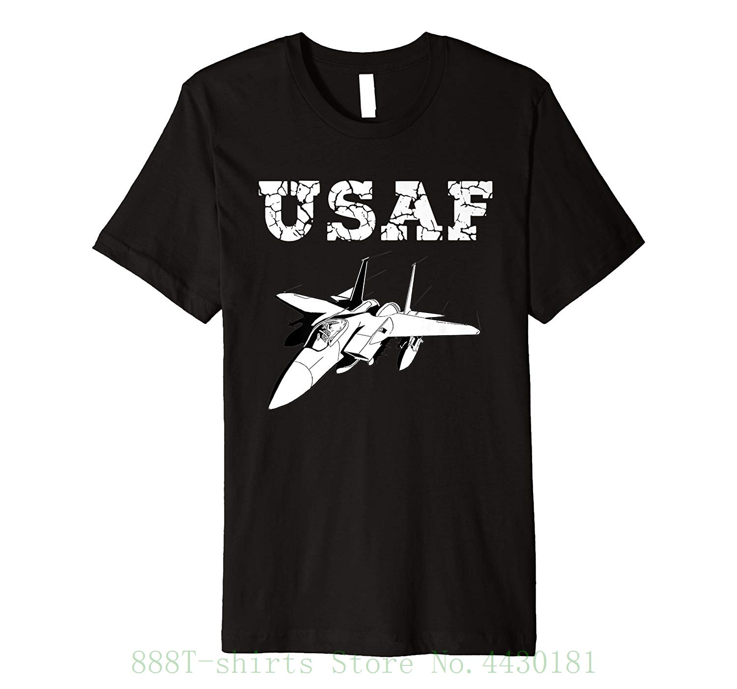 Premium U.s. Air Force Original Proud <font><b>Usaf</b></font> F15 T <font><b>Shirt</b></font> For Lady Fashion Karajuku Brand Female image