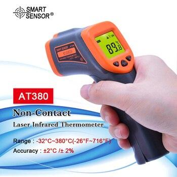 Digital Thermometer gun LDC IR AT380 -32~380 C Non-Contact IR aquarium Laser thermometer Gun Pyrometer temperature Meter
