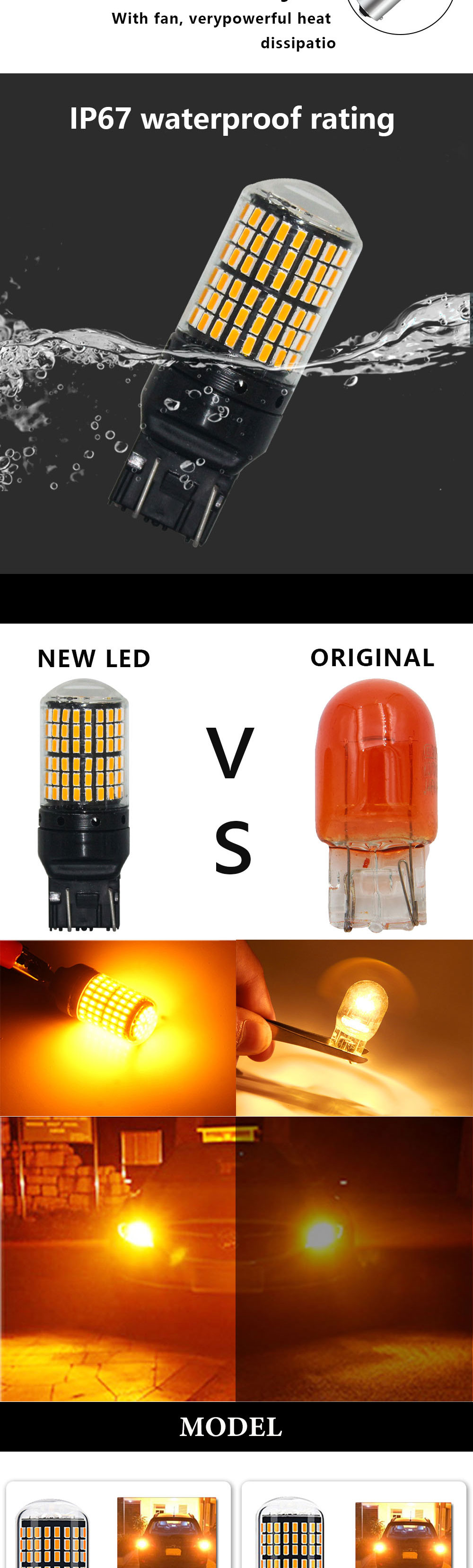 H2d92112c5a8f46ef9e9831957a63c888c RXZ 1pc CanBus p21w py21w T20 LED W21W W21/5W 7440 led S25 1156 BA15S BAU15S Bulbs 3014 144smd car Turn Signal Lights Brake lamp