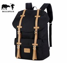 2019 new retro backpack multifunctional large canvas backpack sports leisure student bags solid color dark