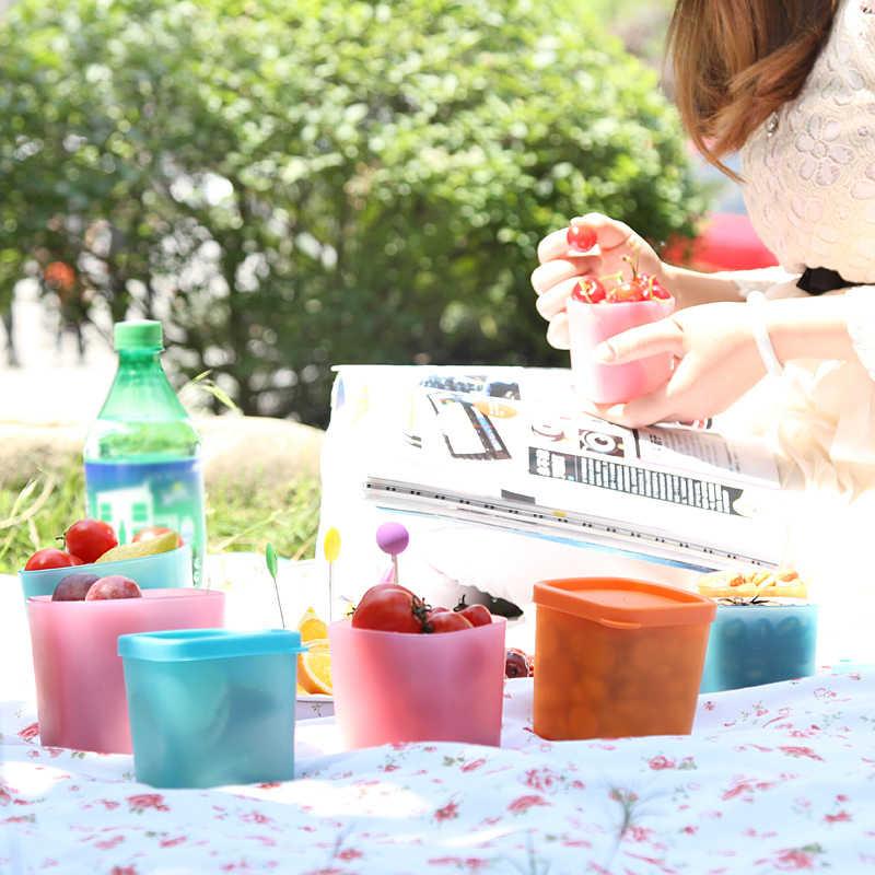 1 Pc de Grãos de Alimentos Caixa De Armazenamento De Plástico com Tampas de Cozinha Geladeira Frutas Frescas Mantendo Recipiente Snack Geladeira Caixa Empilhável