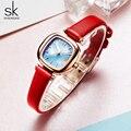 ShengCasual женские часы кожаные кварцевые женские часы наручные часы Relogio Feminino Bayan Kol Saati подарок - фото