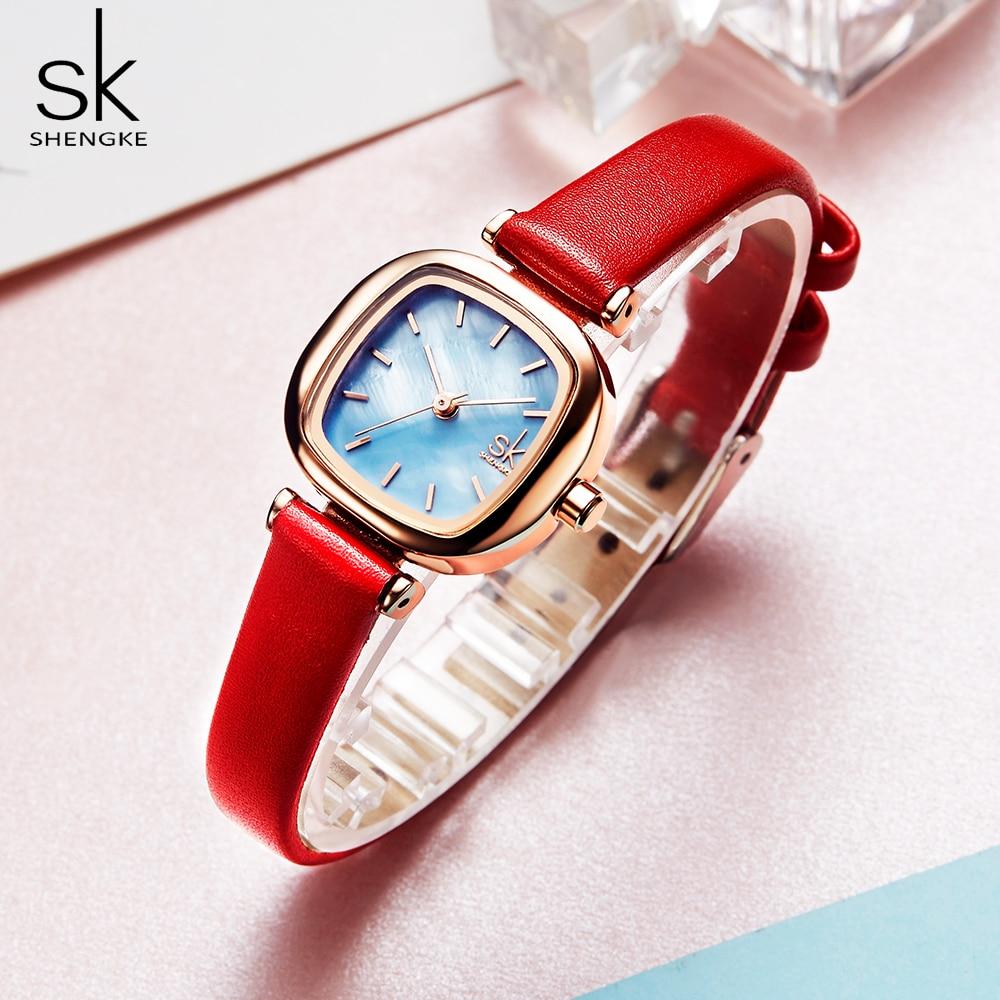 ShengCasual Women's Watches Leather Quartz Ladies Watch Women Clock Wrist Watch Relogio Feminino Bayan Kol Saati Gift