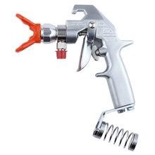 Пистолет распылитель для краски с двумя пальцами серебристый