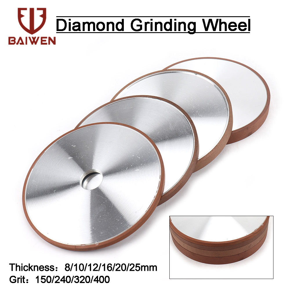 200mm Diamond Grinding Wheel Diamond Disc Sharpening Diamond Blades 32mm Hole For Metal Tungsten Steel Milling Cutter Tool