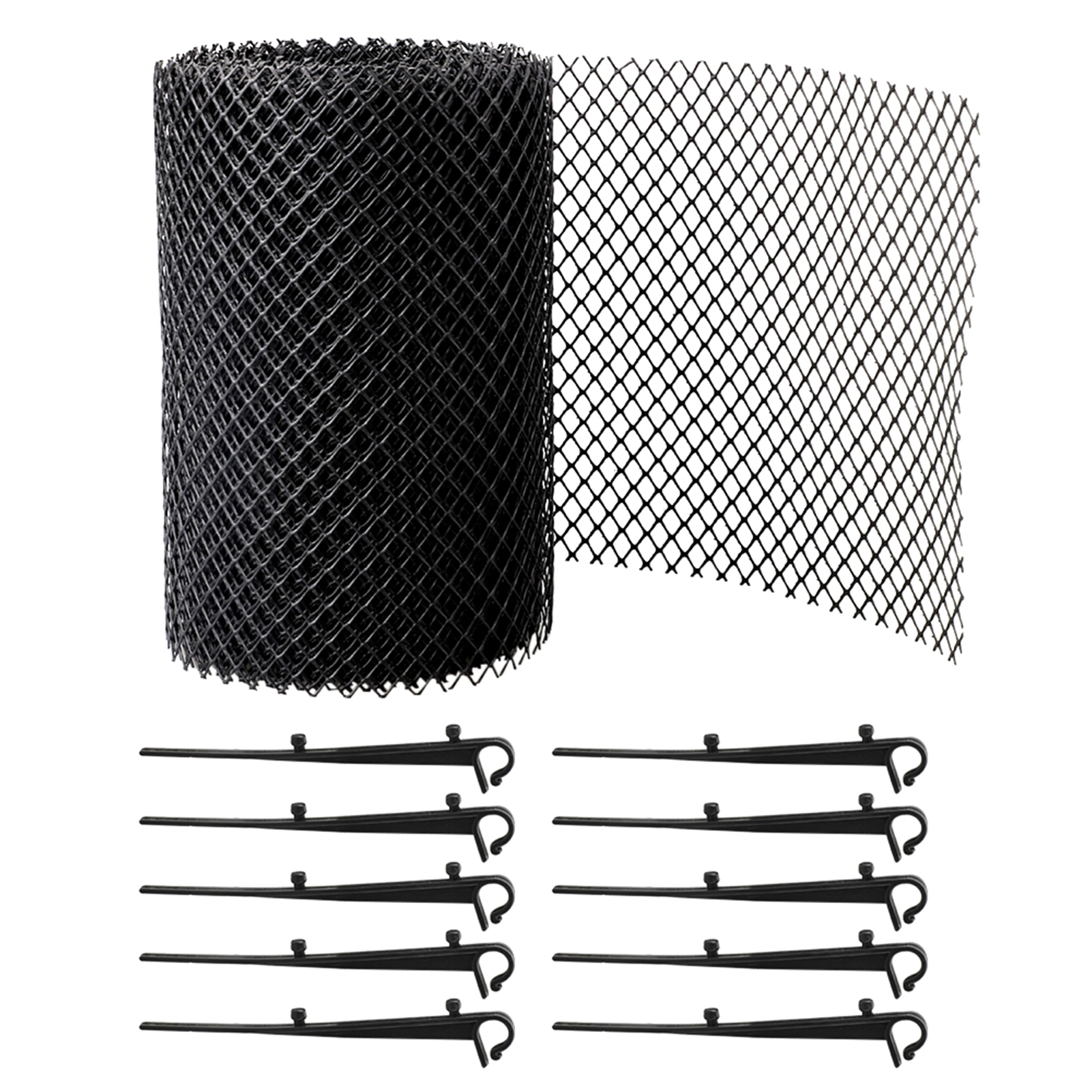 With Stakes Stops Leaves Anti Clogging Mesh Cover Balcony Easy Install Gutter Guard Flexible Drain Reduce Overflow Cleaning Tool