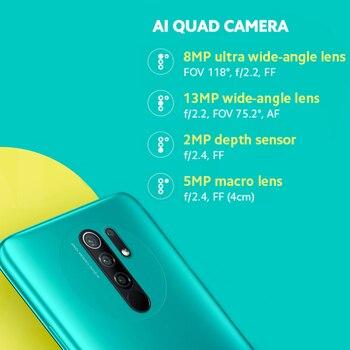 "Global Version Xiaomi Redmi 9 Mobile Phones  NFC Helio G80 32GB 64GB 6.53"" FHD+ Screen 13MP AI Quad Cams Smartphone 5020mAh 2"