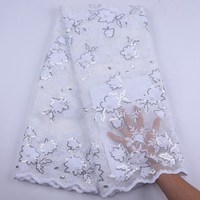 white Applique Lace 2020 New Unique Design Floral Embroidery French Nigerian Lace Fabric High Quality Cord African Evening Dress