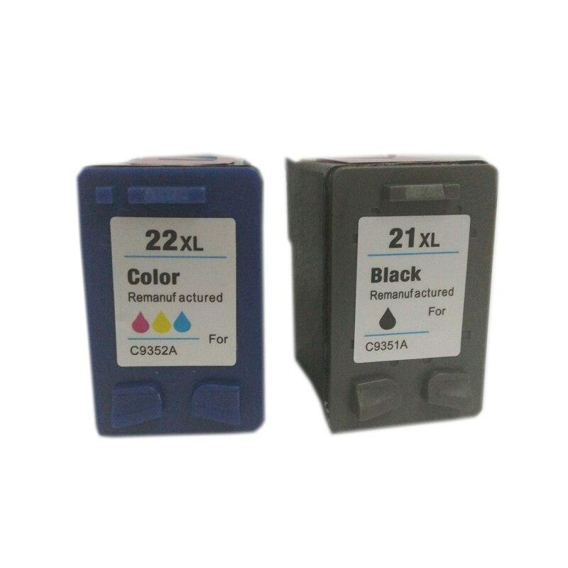 Cartridge For Hp 21 22 Ink Cartridges For Hp21 Hp22 Deskjet F300 F380 380 F2180 F2200 F2280 F4180 D2300 Printer Einkshop