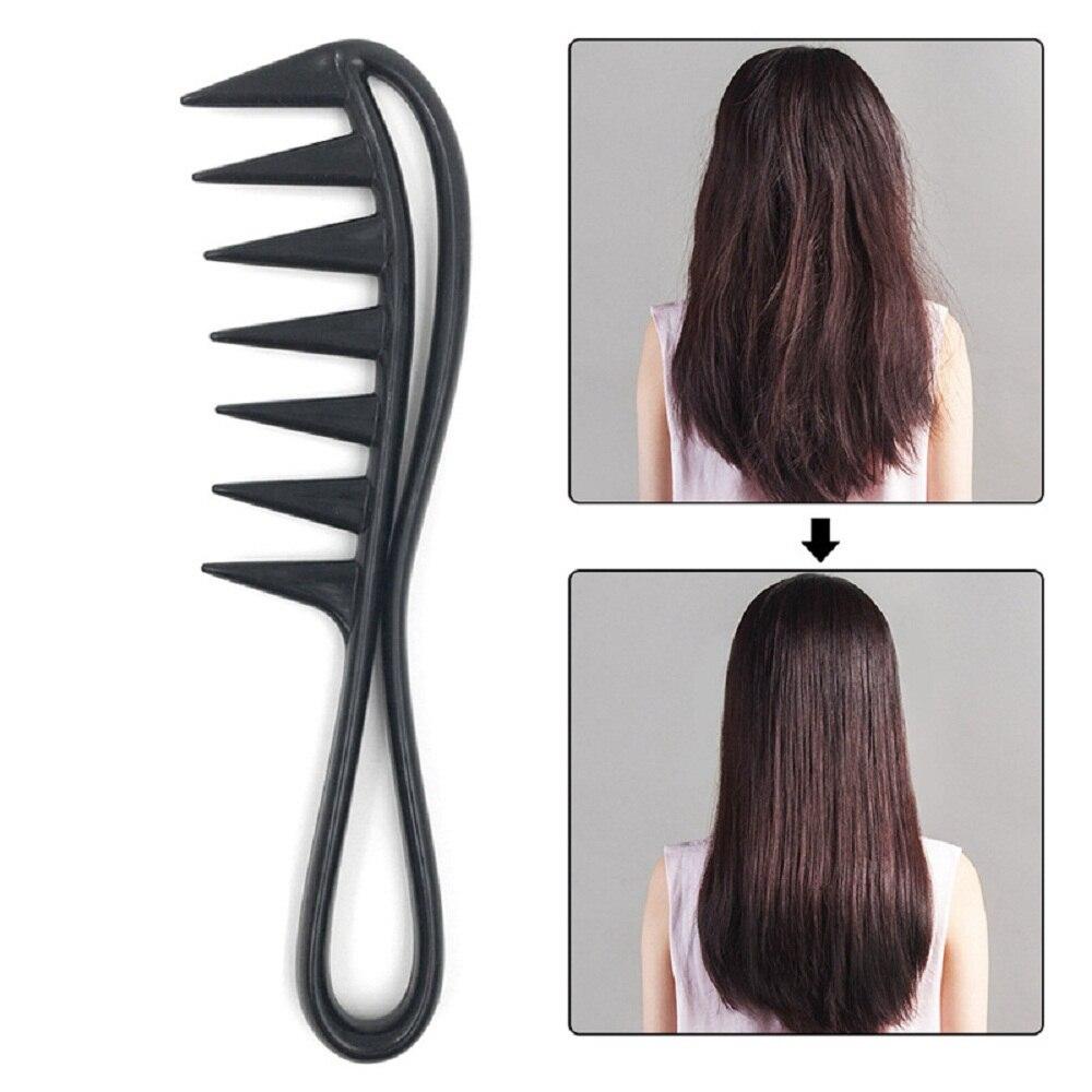Расческа с широкими зубьями Акула, пластиковая расческа для волос, расческа для парикмахерских салонов, массажный инструмент для укладки в...
