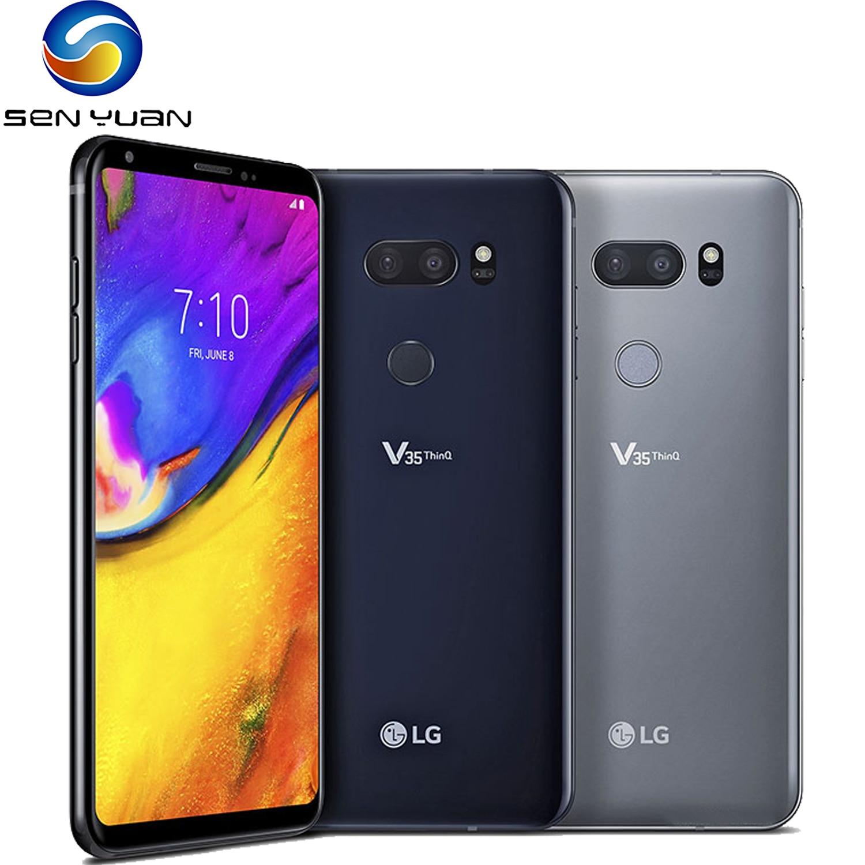 Orijinal LG V35 ThinQ 6.0 6GB RAM 128GB ROM Android Snapdragon 845 Octa çekirdek çift kamera parmak izi NFC mobileSmartPhone