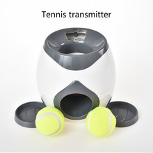 Dog Pet Toys Creative 2 In 1 Pet Dog Toy Automatic Ball Launcher Tennis Ball Toys Pet Ball Throw Device Section Emission
