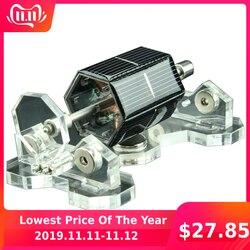 Diy motores solares 300-1500 rpm manual diy criativo mendocino levitação magnética motor solar para laboratório ensinar & diversão presente brinquedo