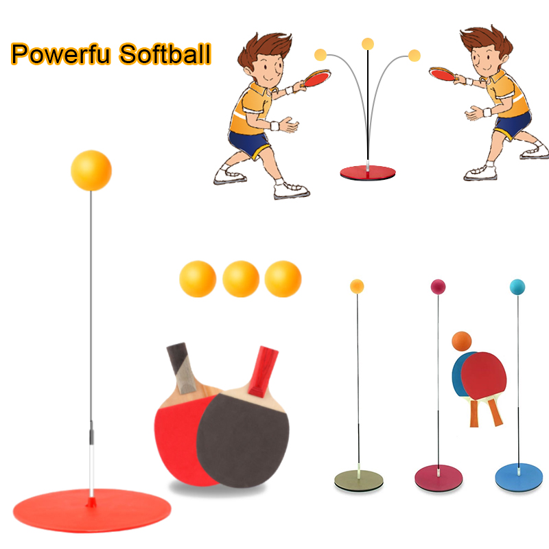 Decompression Game Table Tennis Set Ping Pong Paddle  Home Training Racket Toys For Children Indoor Sport Interactive Game