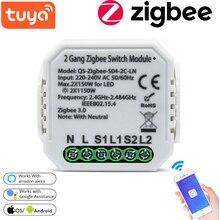 Tuya ZigBee Switch Module Smart Household Converted Module No/With Neutral Wireless Light Switch Multipurpose Tool for Alexa