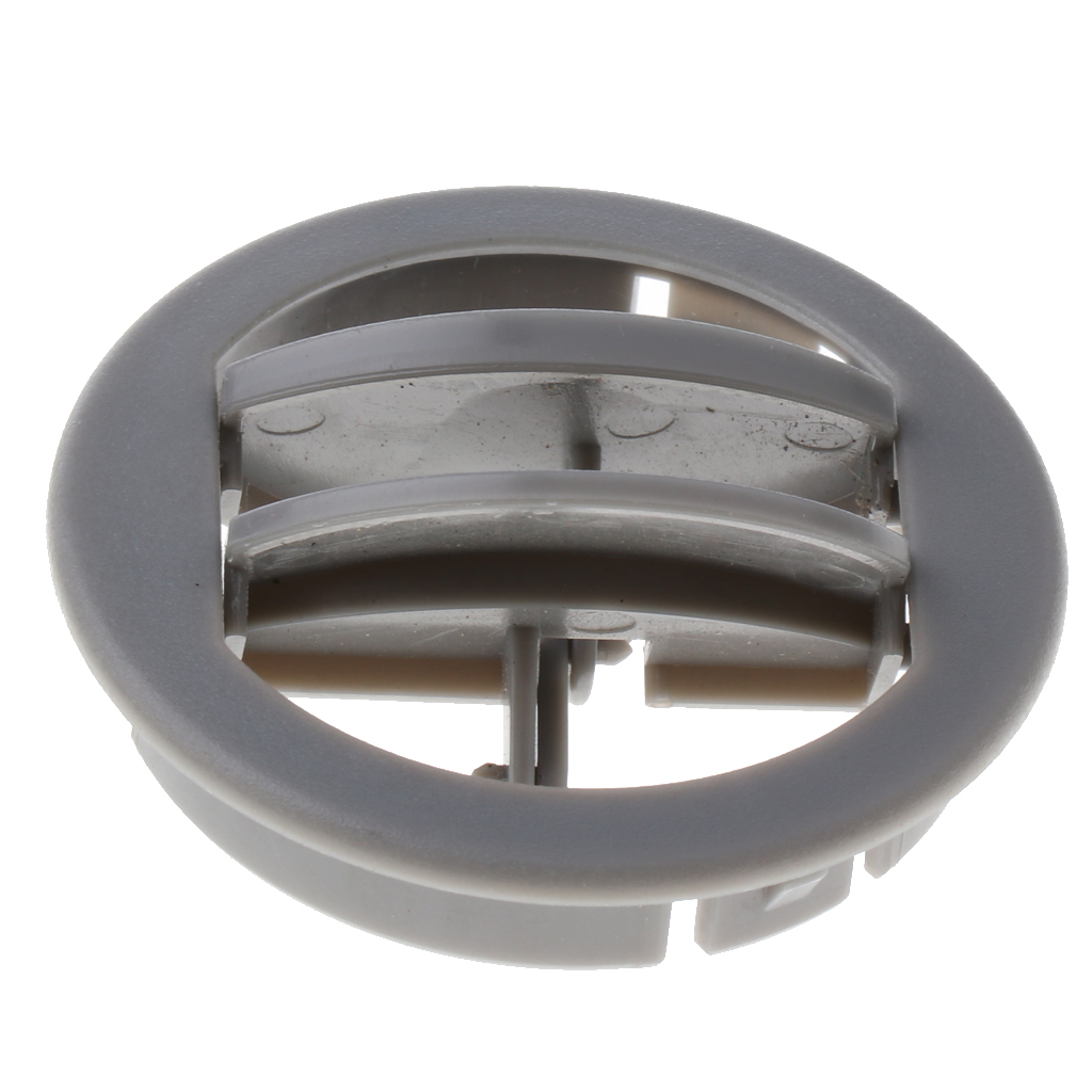 Set Of 2 Universal Car RV ATV Trailer Camper Round A/C Vent Air Outlet 360° Rotating (Gray)