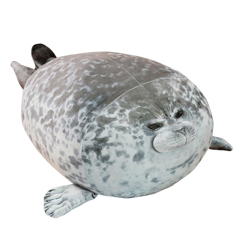 Cute Sea Lion Plush Toys 3D Novelty Throw Pillows Soft Seal Plush Stuffed Plush Housewarming Party Hold Pillow(China)
