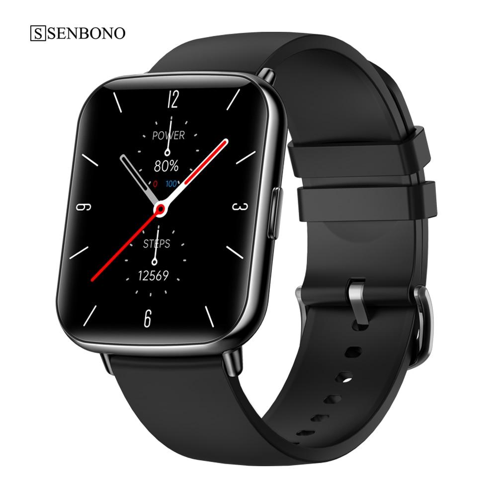 Смарт-часы SENBONO 2021 X27 для мужчин и женщин, водонепроницаемые спортивные Смарт-часы с пульсометром, фитнес-трекером, часы для IOS и Android