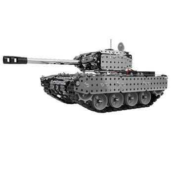 952PCS RC Assembled Tank DIY Assembly Set Stainless Steel Remote Control Model Kids Gift Toy Built-In 3.7V 300MAh Lithium Batter